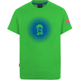 TROLLKIDS Pointillism T-shirt Kinderen, bright green/blue